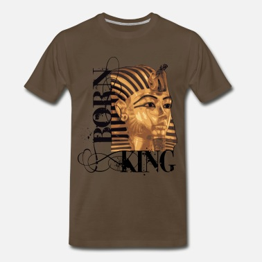 King Tut king tut1 born king ink design.png T-Shirts - Men's Premium T-Shirt