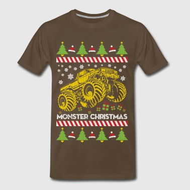Monster Truck Ugly Christmas - Men's Premium T-Shirt