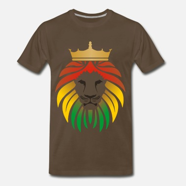 Dreads lion_reggae_king_2 - Men's Premium T-Shirt