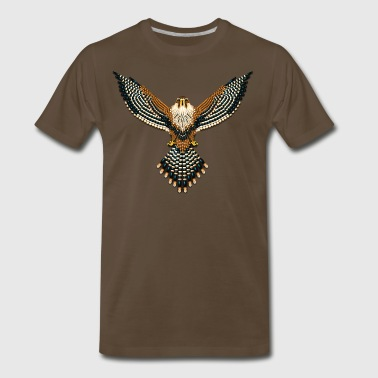 Seed Bead Beaded Aplomado Falcon - Men's Premium T-Shirt