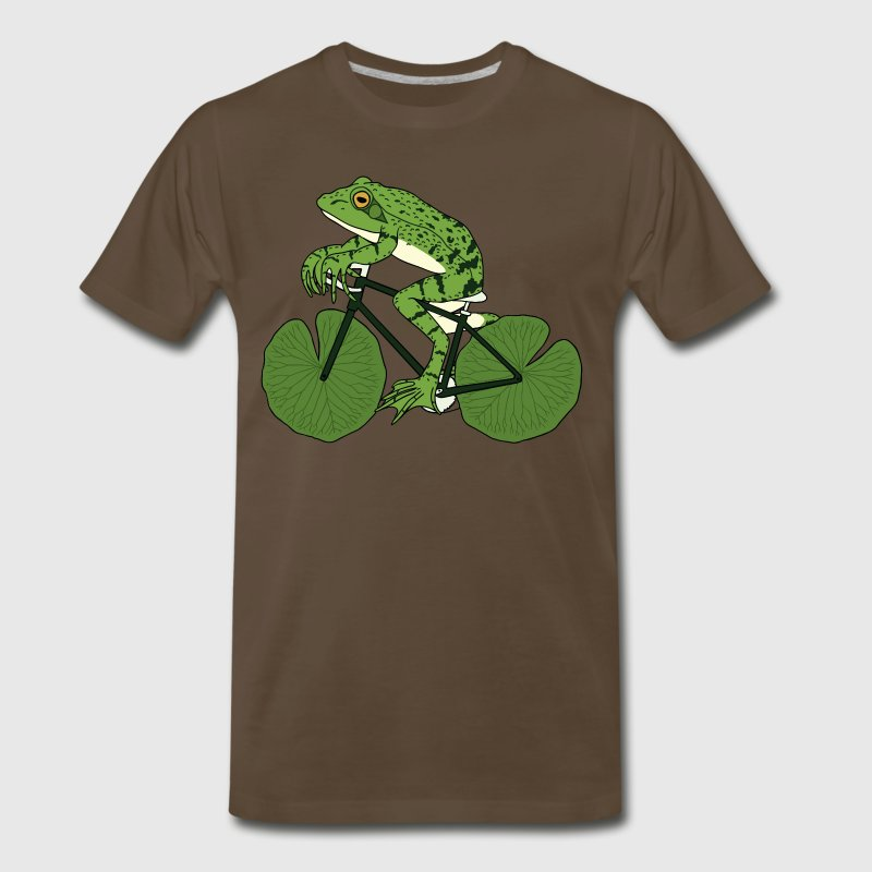 Frog Riding Bike With Lily Pad Wheels - Men's Premium T-Shirt