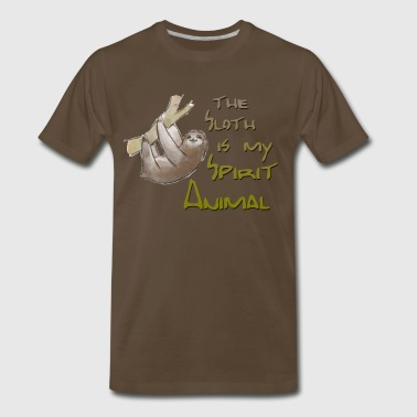 The Sloth is my Spirit Animal - Men's Premium T-Shirt