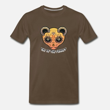 Mens Sugar Skull Orange Ferret Sugar Skull Mens Premium Tshirt - Men's Premium T-Shirt
