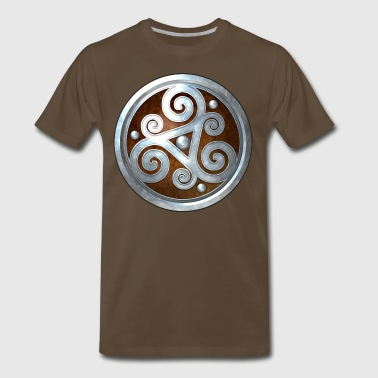 Brown Celtic Triskelion - Men's Premium T-Shirt