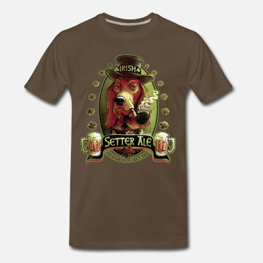 Irish Bar Irish Setter Red Ale - Men's Premium T-Shirt