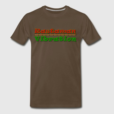Rastaman Vibration - Rasta Colored Logo - Men's Premium T-Shirt
