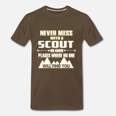 Boy Scout Leader NEVER MESS WITH SCOUT - Men's Premium T-Shirt