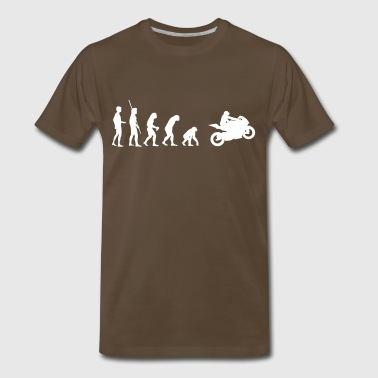 Monkey Motorcycles Evolution motorcycle reverse - Men's Premium T-Shirt