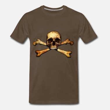 Skull And Bones Skull Bone Old - Men's Premium T-Shirt