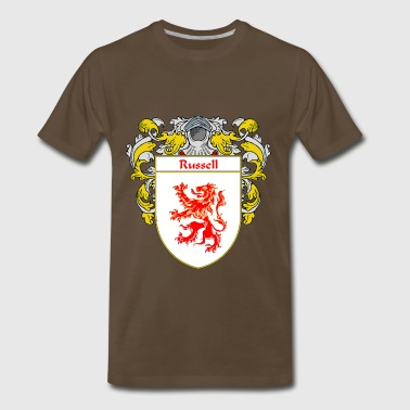 russell_coat_of_arms_mantled - Men's Premium T-Shirt