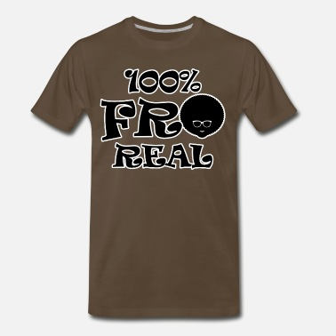 Afro 100% Fro Real Natural Afro Hair - Men's Premium T-Shirt