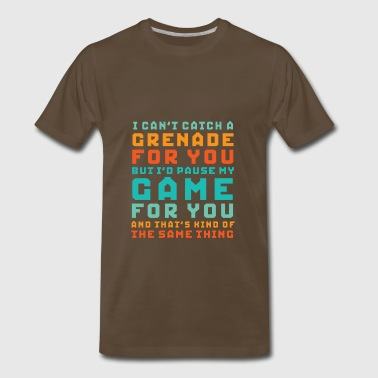 Gamer Love I'd Pause My Game For You - Men's Premium T-Shirt