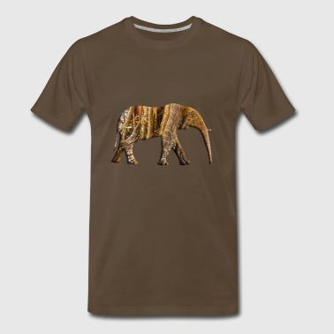 Rainforest Elepahant - Men's Premium T-Shirt