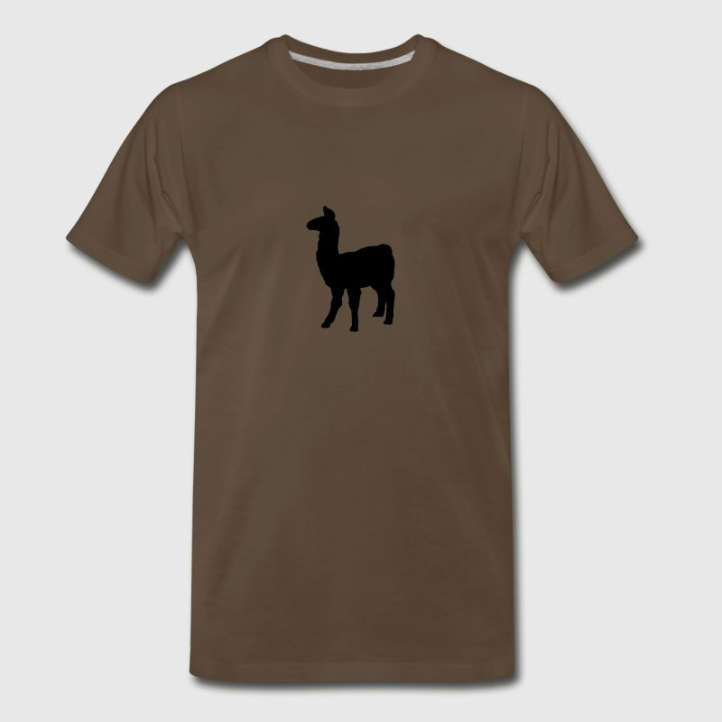 llama domesticated pack animal camel family Andes  - Men's Premium T-Shirt