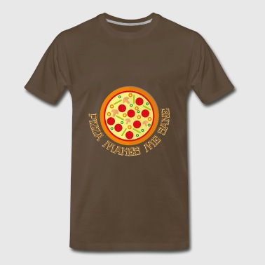 Pizza Dough Pizza Makes Me Sane - Pizza Love - Men's Premium T-Shirt