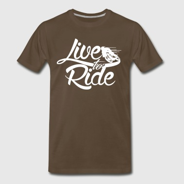Valentino Rossi live to ride - Men's Premium T-Shirt