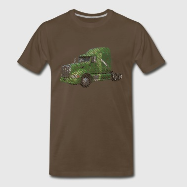Peterbilt Word  dark  - Men's Premium T-Shirt