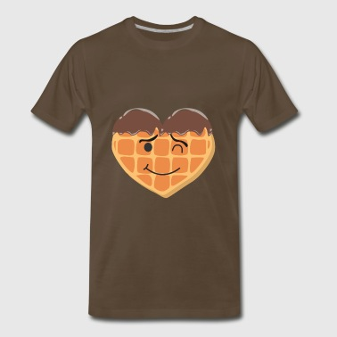 Trendy Products Waffles Love - Waffles,Waffles,Waffles - chocolate - Men's Premium T-Shirt