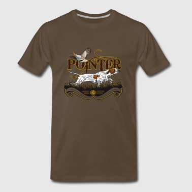 Pointer pointer_and_patridge - Men's Premium T-Shirt