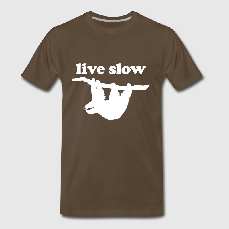 Live Slow - Cute Sloth - Men's Premium T-Shirt