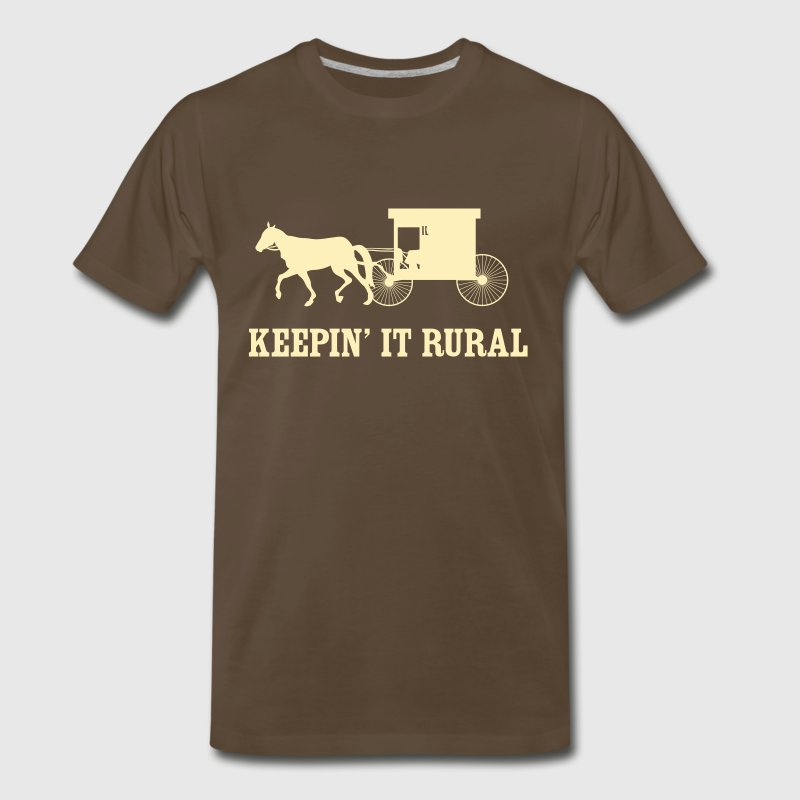 Keepin' it rural (Amish) - Men's Premium T-Shirt