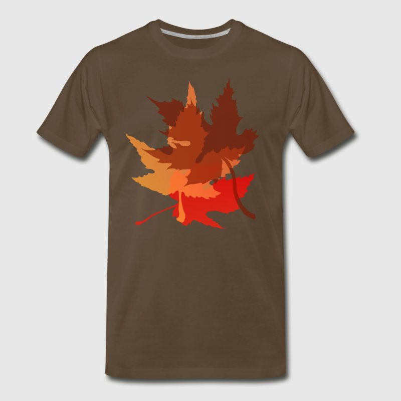 Big Autumn Leaves - Men's Premium T-Shirt