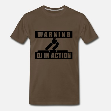 Warning Dj Warning, dj in action - Men's Premium T-Shirt