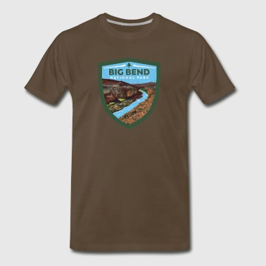 Big Bend National Park Vintage Badge Design - Men's Premium T-Shirt