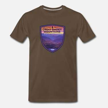 Great Smoky Mountains Great Smoky Mountains National Park Vintage Smokies Badge Design - Men's Premium T-Shirt