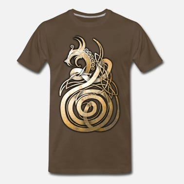 Celtic Knotwork Norse Knotwork Dragon - Men's Premium T-Shirt