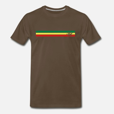 Fuck Reggae jamaica, hemp, grass smoke pot, joint, dowel, , - Men's Premium T-Shirt