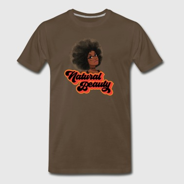 Natural Hair Beauty with Glasses - Men's Premium T-Shirt