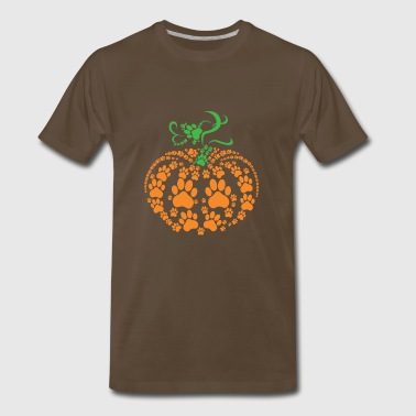 Footsteps pumpkin - Men's Premium T-Shirt