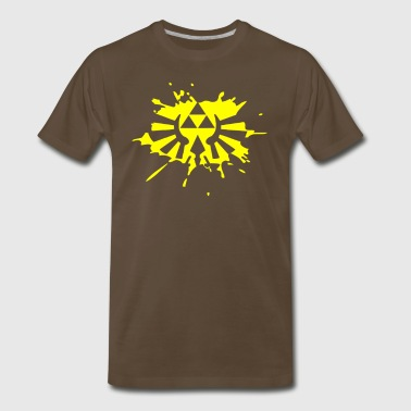 Hylian Shield Zelda Link Hylian Shield Triforce Splat - Men's Premium T-Shirt