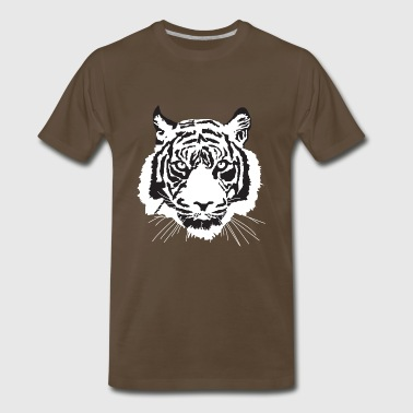 Snow Tiger white tiger - Men's Premium T-Shirt
