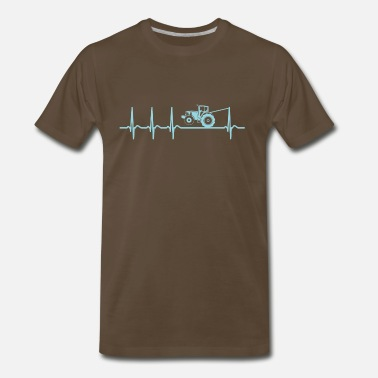 Tractor Pulling Heartbeat Tractor Pulling Shirt Cool Funny Gift - Men's Premium T-Shirt