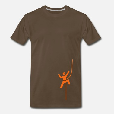 Mountaineering climbing - Men's Premium T-Shirt