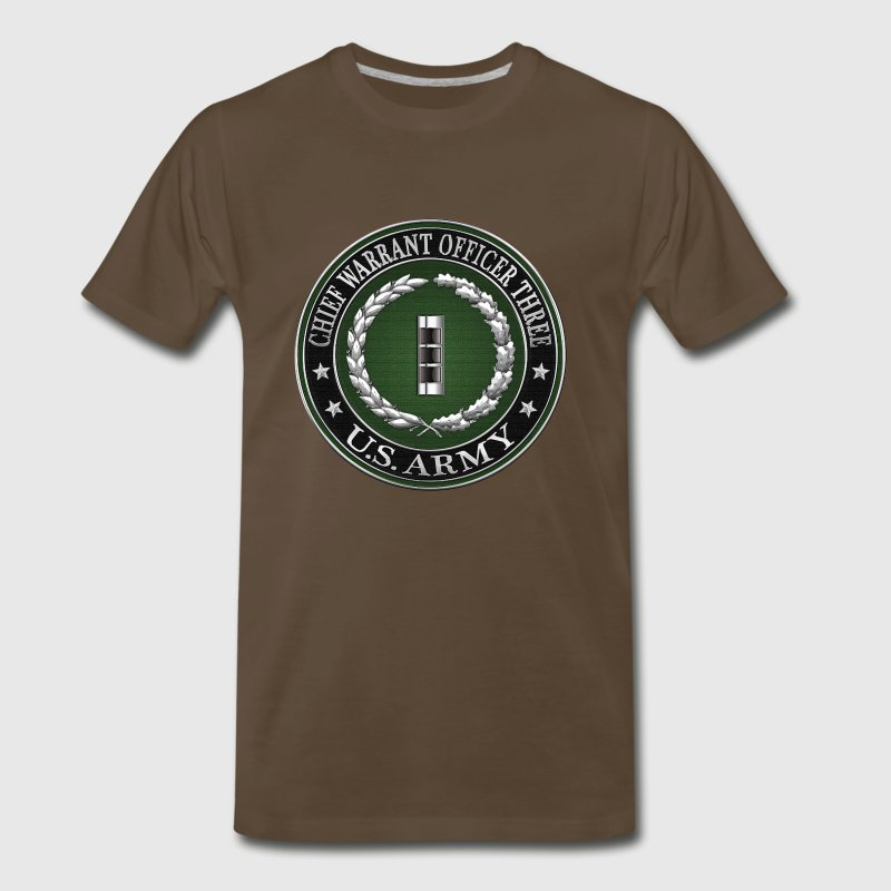 Chief Warrant Officer Three (CW3) Rank Insignia  - Men's Premium T-Shirt