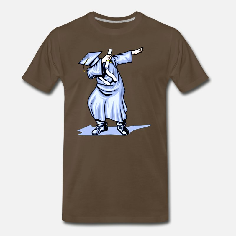 Graduation T-Shirts - The Dabbing Graduation Class of Funny Gifts - Men's Premium T-Shirt noble brown