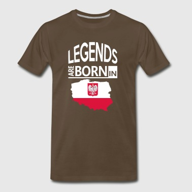 Proud To Be Polish Poland Born Pride Polish Proud Heritage Gift - Men's Premium T-Shirt