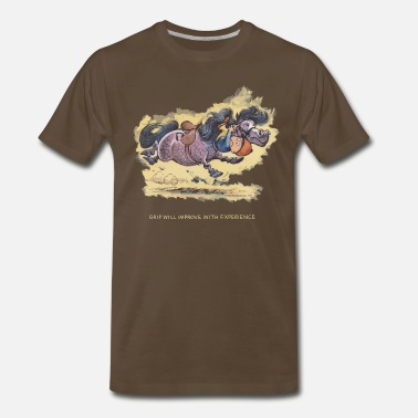 Norman Thelwell Thelwell Grip will improve - Men's Premium T-Shirt