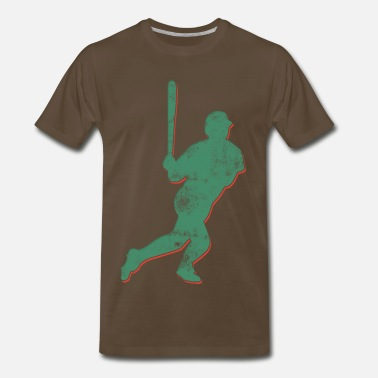 Curveball Fastball Knuckleball Baseball Player Retro Abstract  - Men's Premium T-Shirt