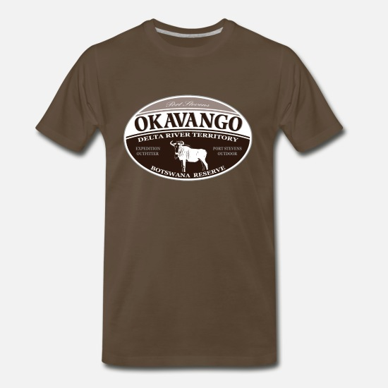 Africa T-Shirts - wildebeest - Gnu - Africa - Safari - Men's Premium T-Shirt noble brown