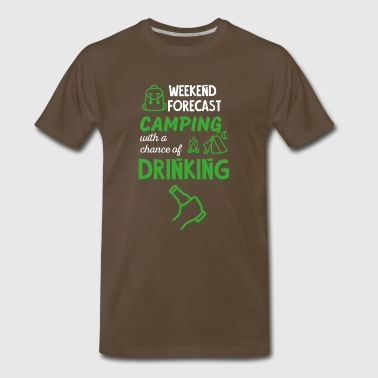 Camping and Drinking - Men's Premium T-Shirt