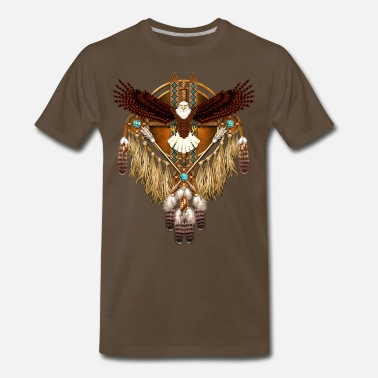 Bald Eagle Bald Eagle Mandala - Men's Premium T-Shirt