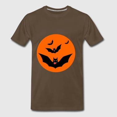 Awesome Hunting Halloween Scary Bats - Men's Premium T-Shirt