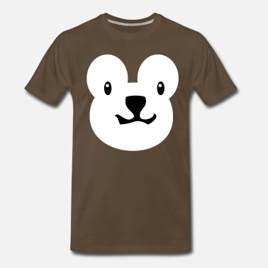 Bear Face Kids teddy bear face alone with really cute nose - Men's Premium T-Shirt
