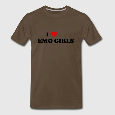 Emo-girl I heart emo girls - Men's Premium T-Shirt