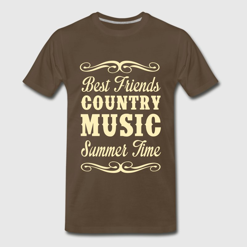 Best Friends, Country Music, Summer - Men's Premium T-Shirt