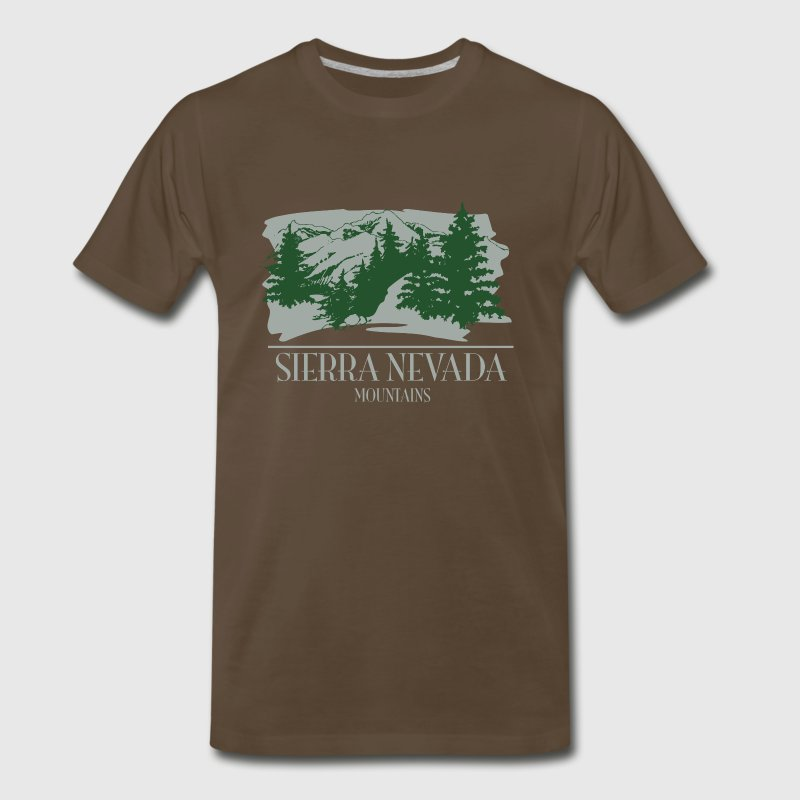 Sierra Nevada Mountain Scene - Men's Premium T-Shirt